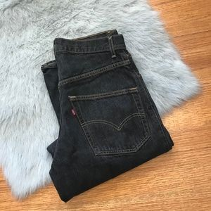 Levi's 595 Black Jeans Mens Made in USA Black 32